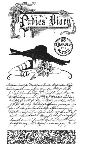Graphic 45 Ladies Diary Stamp Set 1