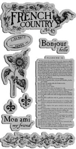 Graphic 45 French Country Stamp Set 1
