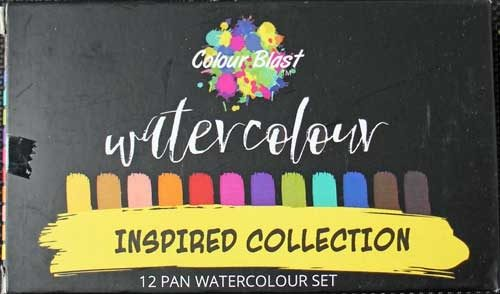 Colour Blast Inspired Collection Pan Watercolour Set