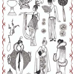 Chocolate Baroque A4 Stamp Set - Fabulous Flappers
