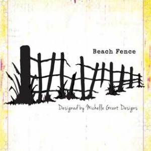 Bee Arty Beach Fence Metal Die from the Life's A Beach Collection