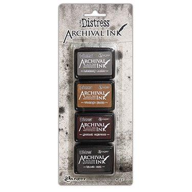 Archival Distress Mini Ink Pad - Kit 3