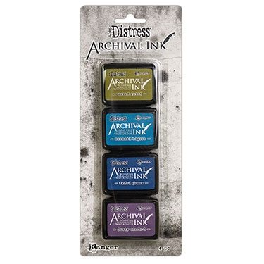 Archival Distress Ink Pads Mini - Kit 2