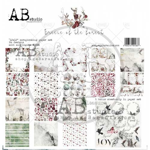 """AB Studio """"Breeze of the Forest"""" 12x12 Double Sided Paper Collection"""