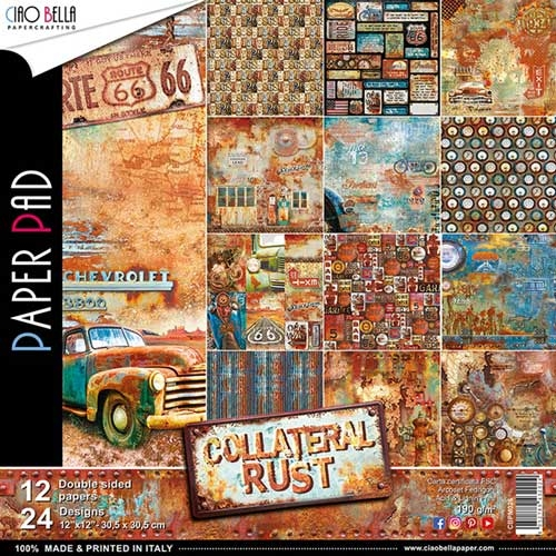 Ciao Bella Collateral Rust Double Sided 12x12 Paper Pad