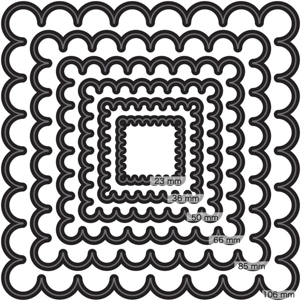 Nesting Scalloped Squares by Couture Creations