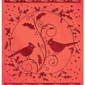 Couture Creations A2 Embossing Folder - Cardinals Wreath
