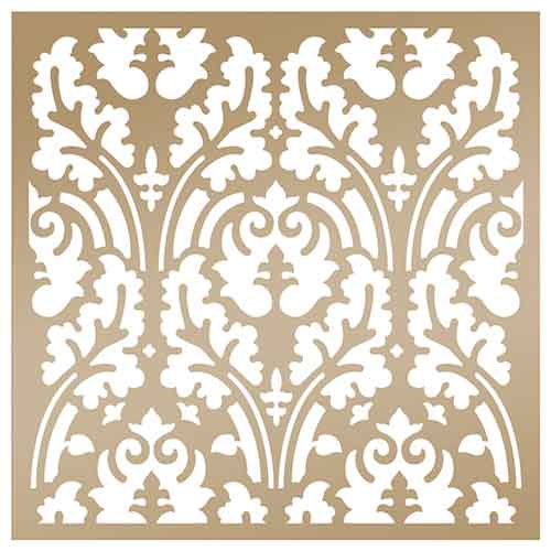 Anna Griffin Arabesque 8x8 Stencil - Botanical Damask