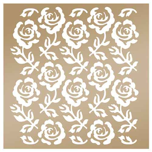 Anna Griffin Arabesque 8x8 Stencil - Rose Trellis