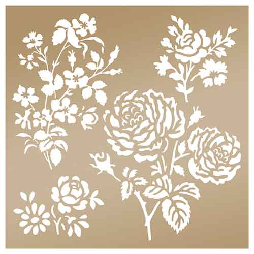 Anna Griffin Arabesque 8x8 Stencil - Secret Garden