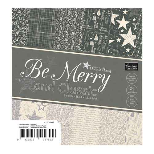 Couture Creations Classic Be Merry 6x6 Paper Pad