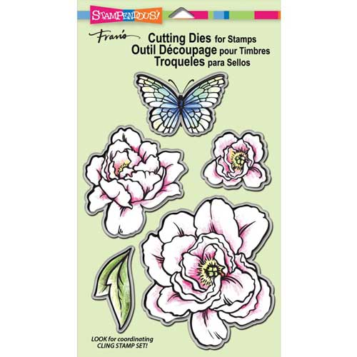 Stampendous Cling Lovely Garden Stamp & Die Set