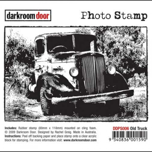 Darkroom Door Photo Stamp - Old Truck