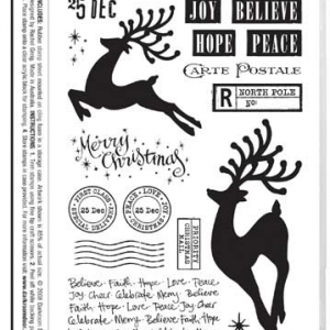 Darkroom Door Stamp Set - Christmas Reindeer