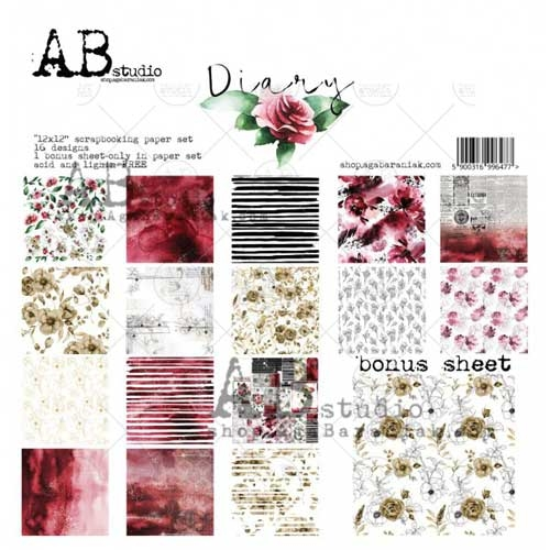 AB Studio - Diary 12X12 Double Sided Paper Collection