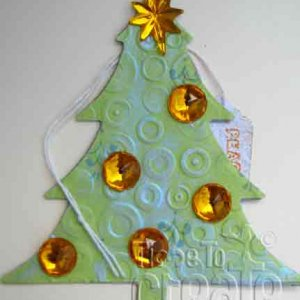 Decorated Christmas Tree - Lime
