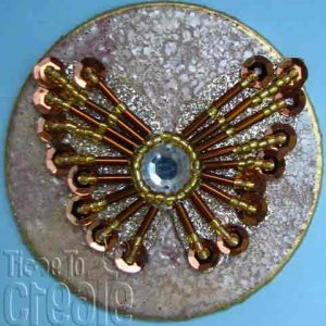 Jewelled Medallion Bronze Butterfly