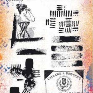 PaperArtsy Stamp Set - ECF10 by Courtney Franich