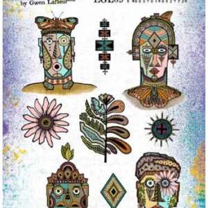 PaperArtsy Stamp Set - EGL09 by Gwen Lafleur