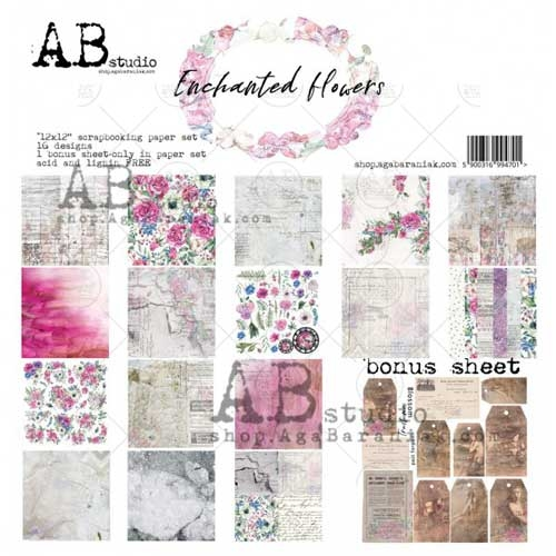 """AB Studio """"Enchanted Flowers"""" 12x12 Double Sided Collection"""
