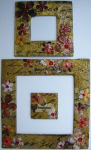 Embossed & Embellished Frame Set - Golds