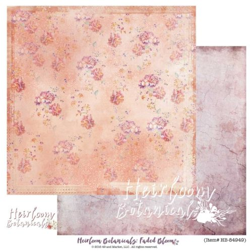 49 and Market - Faded Bloom 12X12 Cardstock