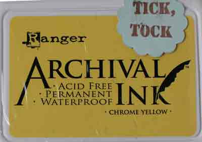 Ranger Archival Ink Pad - Chrome Yellow