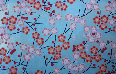 G003 Yutzen - Cherry blossom on a grey background