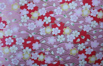 G005 Yutzen paper - Red, Pink & Yellow Floral