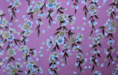 G020 Yuzen Paper - Blue & brown Floral