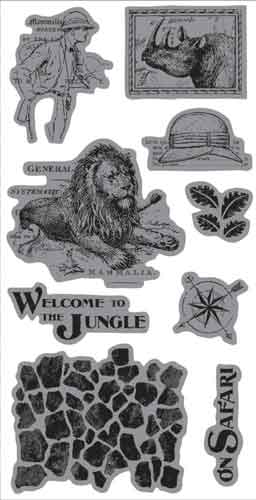 Graphic 45 Cling Stamps - Welcome to the Jungle