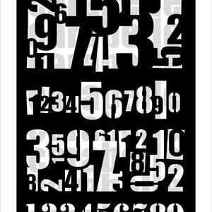 Carabelle Studio A6 Mask - Numbers