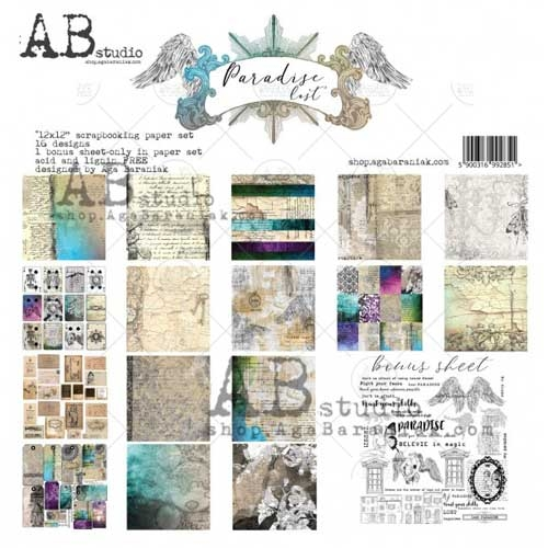 """AB Studio """"Paradise Lost"""" 12x12 Double Sided Paper Collection"""