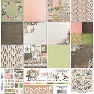 "Celebr8 Beautiful Life 12""Scrapbook Paper Pack"