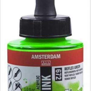 Amsterdam Reflex Green 672 Acrylic Ink