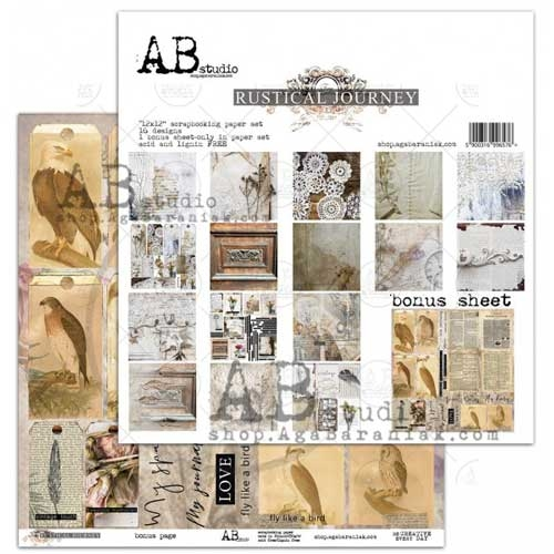 """AB Studio  """"Rustical Journey"""" Double Sided 12X12 Paper Collection"""