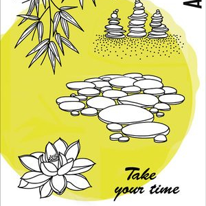 Carabelle Studio A 6 Stamp Set - Take Your Time by Azzoline