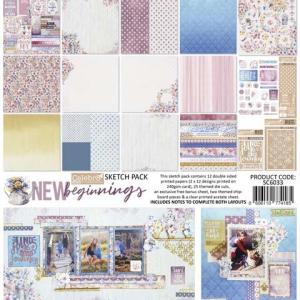 Celebr8 New Beginnings 12x12 Sketch Pack
