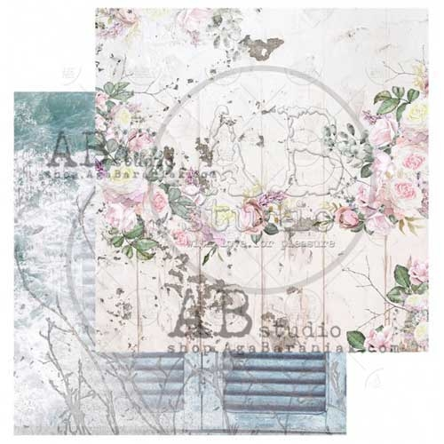 """AB Studio """"Shabby Love Symphony Design 1 12x12 Double Sided Paper"""