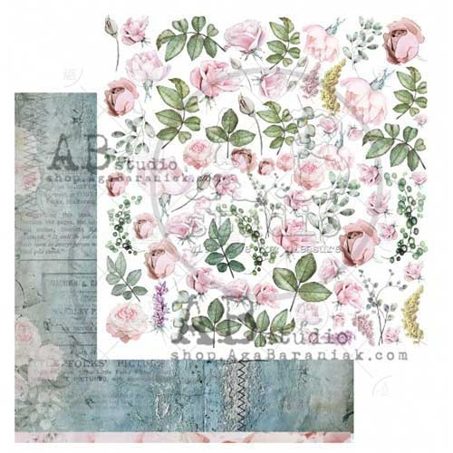 """AB Studio """"Shabby Love Symphony"""" Design 4 12x12 Double Sided Paper"""