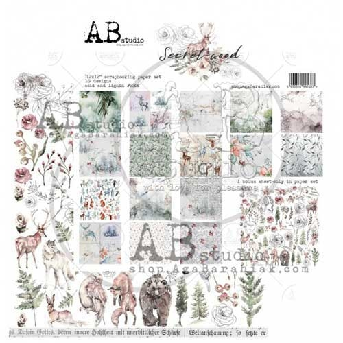 """AB Studio """"Secret Wood"""" 12 x 12 Double Sided Paper Collection"""