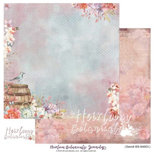 49 and Market - Serenity 12X12 Cardstock