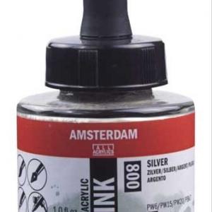 Amsterdam Silver 800 Acrylic Ink