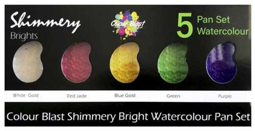 Bee Arty Shimmery Paint Palette - Brights