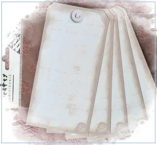 Set of 5 Shabby Style Tags