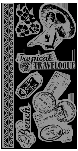 Graphic 45 -Tropical Travelogue Cling Stamps 1