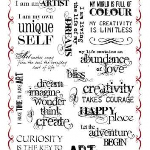 Chocolate Baroque - A4 Stamp Set - Artistic Affirmations