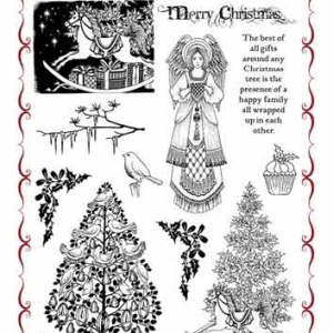 Chocolate Baroque A4 Stamp Set - Family Christmas