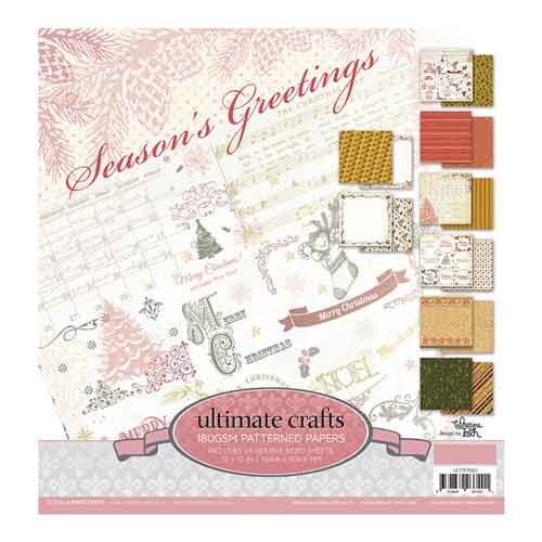 Ultimate Crafts Seasons Greetings - 12 x 12 Paper Pad (24 pages, 8 designs x 3)