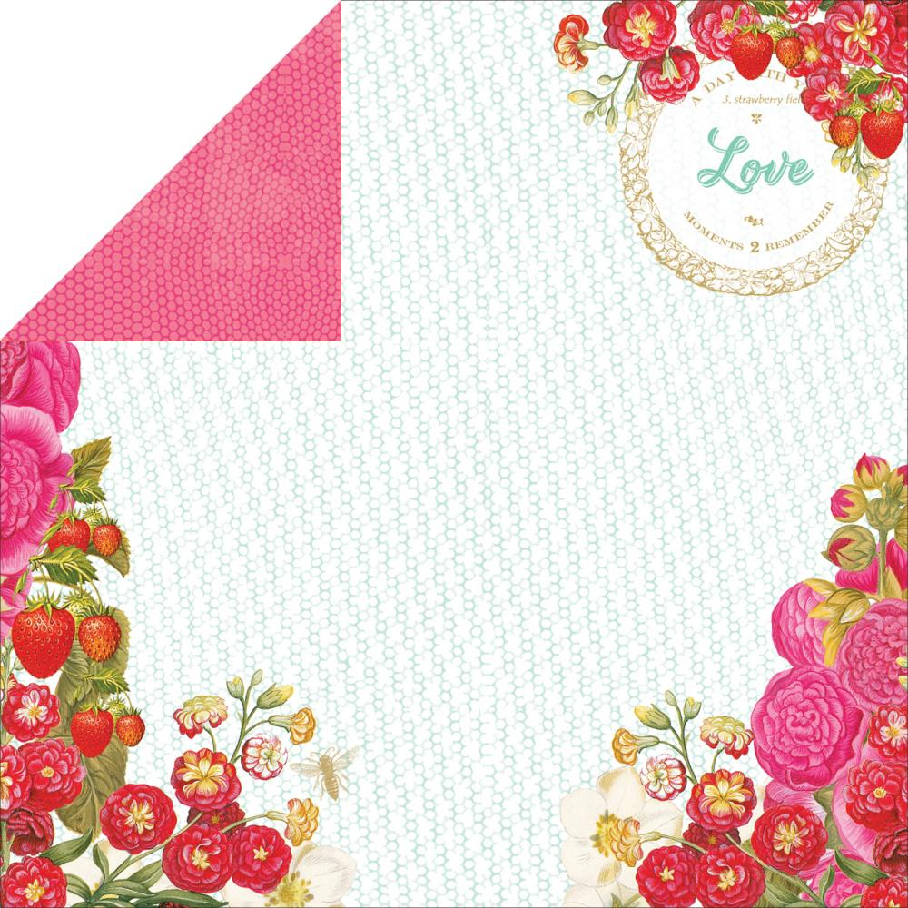 Webster's Pages Strawberry Patch 12X12 Cardstock